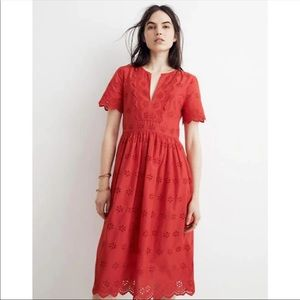 Madewell Scalloped Eyelet Dress